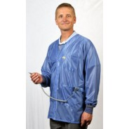 "X2-HOJ-23C-L Tech Wear Hallmark ESD-Safe Dual Monitor 32""L Coat With Cuff OFX-100 Color: Hi-Tech Blue Size: Large"