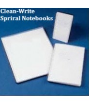 "Clean-Write Notebook 5.5""x8.5"" Cleanroom College Ruled Side Spiral 100 Pages Color: Frosted Cover 10/Case."