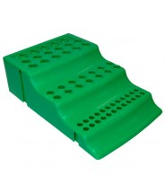 111780GN-Globe Scientific GS111780GN Workstation Rack 4-Way for Microtubes, 1.5mL Microcentrifuge Tubes & 0.2mL & 0.5mL PCR tubes Polypropylene Color: Green 8/Pack -GS111780GN