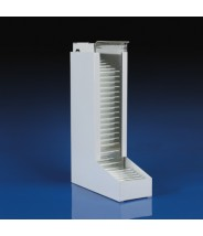 1590 Globe Scientific GS1590  Dispenser for 10x75mm & 12x75mm Glass Culture Tubes White  Metal (VSP)