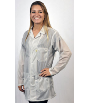 """Tech Wear ESD-Safe 31""""L Traditional Jacket With ESD Cuff OFX-100 Color: White Size: 2X-Large"""