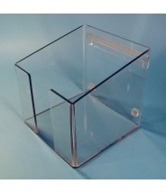 """S-Curve Cleanroom Table Top Wiper Dispenser 9.5""""Wx3""""Hx9.5""""Dx1/4""""Thick Clear Acrylic For 9""""x9"""" Wipes With Open Top & Front Access"""