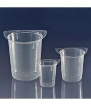 3632 Globe Scientific GS3632 Tri-Corner Clarified Plastic 250mL Beaker Polypropylene 100/Case (VSP)