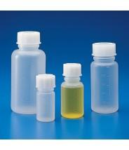 601625 Globe Scientific GS601625 Bottle with Screwcap Wide Mouth Polypropylene Graduated 250mL 50/Case (VSP)