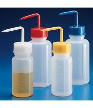 601638Y Globe Scientific GS601638Y Wash Bottle 500mL Polyethylene Yellow Screw Cap 10/Case (VSP)
