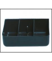 Transforming Technologies TC0843 ESD-Safe Tool Carrier 4 Compartment Insert Black Conductive Polypropylene (VSP)