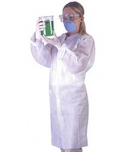 Ultraguard Lab Coat Cleanroom Open Wrist, Full Collar,Two Pockets, Disposable 3-Layer Anti-Static Coated Advantage Pro