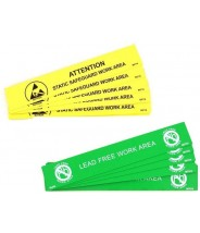 """B67106 Botron 1""""x6"""" Lead-Free Bench Awareness Sign  10/Pack"""