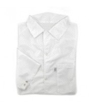 Botron Light Weight ESD Jacket 88% Polyester/12% BASF Conductive Fiber W/Snap Cuff Size: 2X-Large Color: White