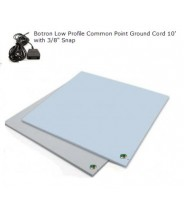 """B4124 Botron Type Z 3-Layer Vinyl Worktop Mat 24""""x48""""x0.120"""" Includes 3/8"""" Female Snap & Common Point Ground Cord Color: Blue"""