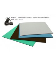 """B3225 Botron T3+ Type C Comfort Stat 3-Layer Rubber Worktop Mat 24""""x60""""x1/8"""" Includes 3/8"""" Female Snap & Common Point Ground Cord Color: Green"""