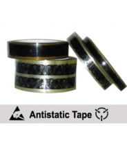 """CL 1200-P Transforming Technologies Anti-Static 1/2""""x72 Yard Transparent Tape 3"""" Core With ESD Symbols"""