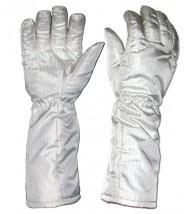 "Transforming Technologies FG3905 ESD-Safe Cleanroom High Temp Nomex® Gloves 572Deg F Unisex 16""L Size: 2X-Large (VSP)"