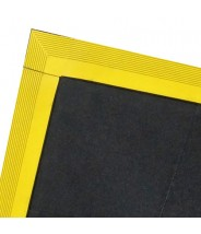 FM83X3 Transforming Technologies Conductive Interlocking Tile, 3'x3' Color: Black