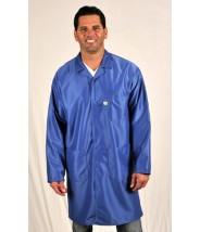 "LIC-43 Tech Wear Traditional ESD-Safe 34""L Coat IVX-400 Color: Royal Blue Size: 2X-Large (VSP)"