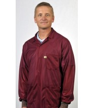 """LOJ-33C Tech Wear ESD-Safe 31""""L Traditional Jacket With ESD Cuff OFX-100 Color: Burgundy Size: Large"""