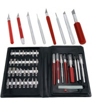 #44200 Super Deluxe Knife Set, with Knifes, Hobby Awl, Burnisher, and Blades