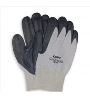 QRP Qualakote® ESD Low Heat (Up To 200°F) Wave Solder Glove Brown Trim Nitrile Palm Coated Size: Large 12Pair/Pak