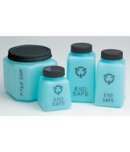 R&R Lotions - Storage Bottle - Square - w/Lid - 6oz - ESD Safe - Blue
