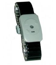 Transforming Technologies Dual Conductor Black Speidel Metal Wrist Strap Size: Large WB0050L