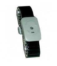 Transforming Technologies WB0050  Dual Conductor Black Speidel Metal Wrist Strap Size: Small (VSP)