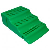 Globe Scientific Workstation Rack 4-Way for Microtubes, 1.5mL Microcentrifuge Tubes & 0.2mL & 0.5mL PCR tubes Polypropylene Color: Green 8/Pack