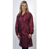 "Tech Wear ESD-Safe 32""L Traditional Coat OFX-100 Color: Burgundy Size: 5X-Large"