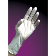 """DuraShield Nitrile Glove Cleanroom 9"""" Powder Free 5mil Textured Finger Tip Color: White Size: Small 100/Bag"""