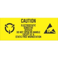 "VSP Label 1""x2-1/2"" Yellow/Black  500/Roll ""Caution Sensitive Devices"" 500/Roll"