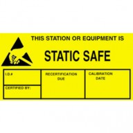 "VSP Label 1-3/4""x3"" Yellow/Black  500/Roll ""Static Safe"""