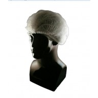 """Epic Cleanroom Disposable Pleated 24"""" Bouffant White Polypropylene *Latex Free* 1000/Case"""