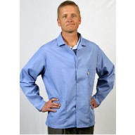 "Tech Wear Nylostat ESD-Safe 31""L Jacket Cotton/Poly Woven Color: Nasa Blue Size: 2X-Large"