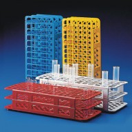 Globe Scientific Tube Rack  25mm, 40-Place, Snap-N-Rack Polypropylene Color: Blue