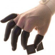 QRP Black Dissipative Finger Cots Powder Free Size: Medium 5Gross/Bag