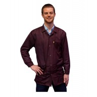 Transforming Technologies ESD Traditional Lab Jacket, ESD, Snap Cuff Wrist, Color: Maroon, Size: 3X-Large