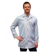 Transforming Technologies JKC 9021SPWH ESD - Traditional Lab Jacket, ESD, Snap Cuff Wrist, Color: White, Size: X-Small