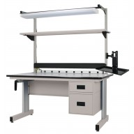 All American Series Adjustable Height Workbench - Slotted Upright