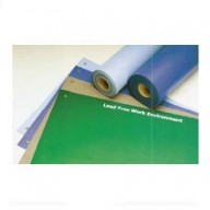 "ACL Staticide Dualmat™ 2-Layer Diss/Cond Rubber Worktop Mat 24""x72""x0.80""  Light Blue/Black W/ 2 Snaps"