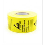 "Botron 1-3/4""x2-1/2"" Awareness Label JEDC-14 Write-On Yellow/Black 500/Roll"