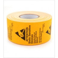 "Botron 1-3/4""x2-1/2"" Awareness Label JEDC-14 Reusable Orange/Black 500/Roll"