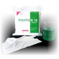"""Unitek Wipe 9""""x9"""" Cleanroom Class 10 Polypure Polyester, Light Weight ,Two Sided Laser Sealed, Laundered, Double Bagged Color: White 150/Pack"""