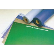 "ACL Staticide Dualmat™ 2-Layer Diss/Cond Rubber Worktop Mat 36""x60""x0.80"" Light Blue/Black W/ 2 Snaps"
