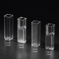 Globe Scientific Cuvette Semi-Micro, 2.5mL, with 2 Clear Sides, PS 1000/Case