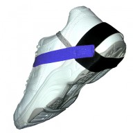 "Transforming Technologies Heel Ground With 1.25"" Cup Stretch Velcro Hook & Loop 1Meg Resistor Blue"