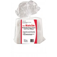 """ACL Staticide Heavy Duty 12""""x13"""" Lint Free Wipes, Polyester Cellulose 50Wipes/Bag, 12Bags/Case"""
