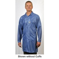 "Tech Wear ESD-Safe 40""L Traditional Coat With ESD Cuff OFX-100 Color: Hi-Tech Blue Size: Large."