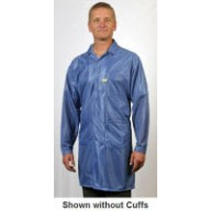 "Tech Wear ESD-Safe 40""L Traditional Coat With ESD Cuff OFX-100 Color: Hi-Tech Blue Size: Small"