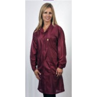 "Tech Wear ESD-Safe 32""L Traditional Coat OFX-100 Color: Burgundy Size: Small"