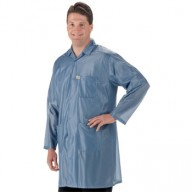 "Tech Wear ESD-Safe 32""L Traditional Coat OFX-100 Color: Blue Size: X-Small"