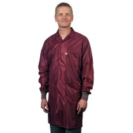 "Tech Wear ESD-Safe 40""L Traditional Coat With ESD Cuff OFX-100 Color: Burgundy Size: 4X-Large"